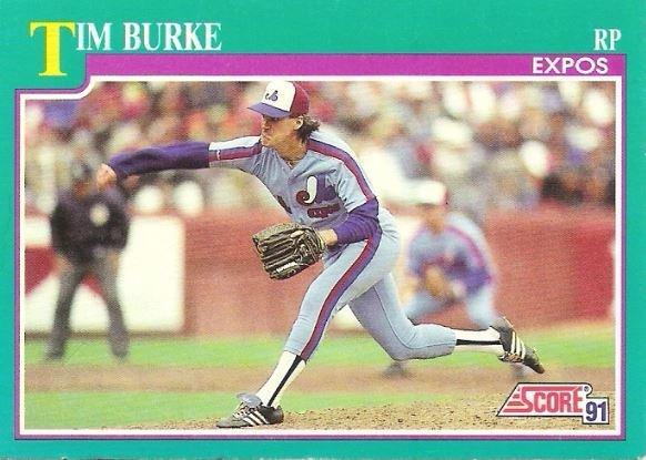 Burke, Tim / Montreal Expos / Score No. 181 | Baseball Trading Card (1991)