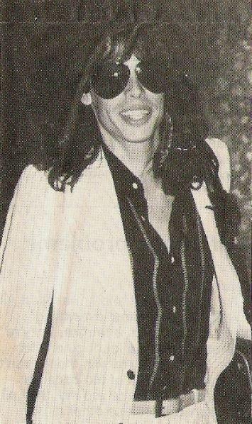 Aerosmith / Steven In Sunglasses, Smiling, Striped Shirt | Magazine Photo (1978)