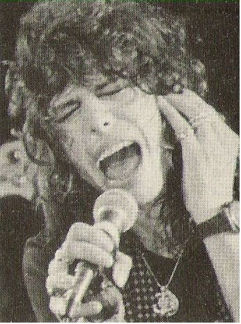 Aerosmith / Steven Tyler On Stage, Holding Hand to Ear   Magazine Photo (1979)