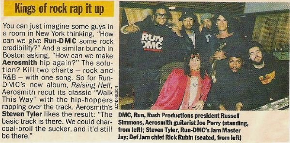 Aerosmith (+ Run-DMC) / Kings of Rock Rap It Up | Magazine Article with Photo (1986)