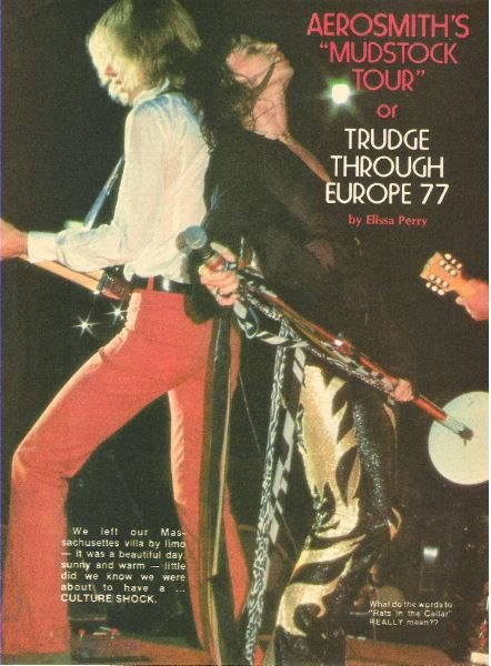 Aerosmith / Trudge Through Europe 77 | Magazine Article with 4 Photos (1977)