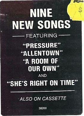 Joel, Billy / The Nylon Curtain / Columbia 38200 / Sticker / 1982 Issue