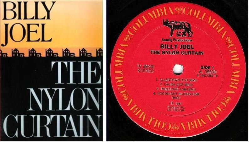 "Joel, Billy / The Nylon Curtain / Columbia TC-38200 / Album (12"" Vinyl) / 1982 Issue"
