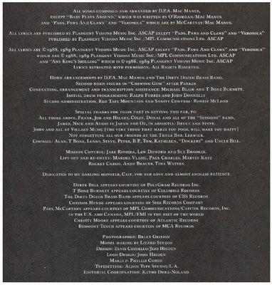 Costello, Elvis / Spike / Warner Bros. 25848-1 | Inner Sleeve | 1989