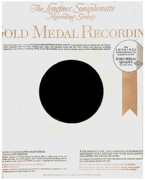 Longines Symphonette Recording Society / Gold Medal Recording | Record Company Inner Sleeve