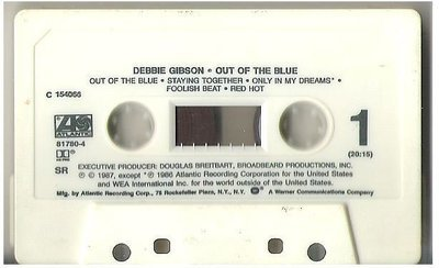 Gibson, Debbie / Out of the Blue / Atlantic 81780-4 | Cassette Tape | 1987 Issue