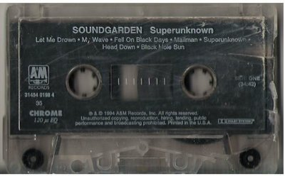 Soundgarden / Superunknown / A+M 31454 0198 4 | Cassette Tape | 1994 Issue