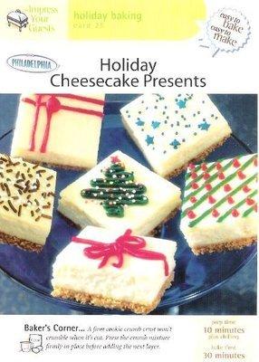 Easy to Bake, Easy to Make / Holiday Cheesecake / Holiday Baking Card 25 | Recipe Card | 2001