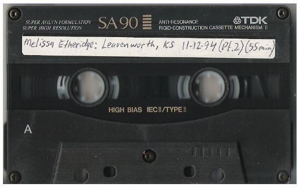 Etheridge, Melissa / Leavenworth, KS - November 12, 1994 | Live + Rare Cassette | Part 2