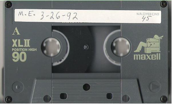 Etheridge, Melissa / Los Angeles, CA - March 26, 1992 | Live + Rare Cassette