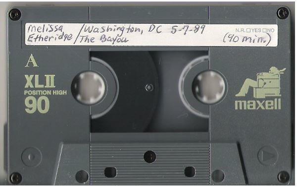 Etheridge, Melissa / Washington, DC - May 7, 1989 | Live + Rare Cassette