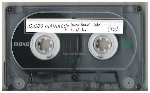 10,000 Maniacs / Hard Rock Cafe - March 29, 1988 | Live + Rare Cassette