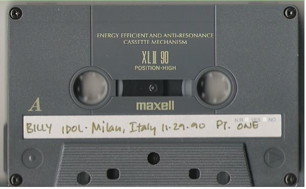 Idol, Billy / Milan, Italy - November 29, 1990 | Live + Rare Cassette | Part 1