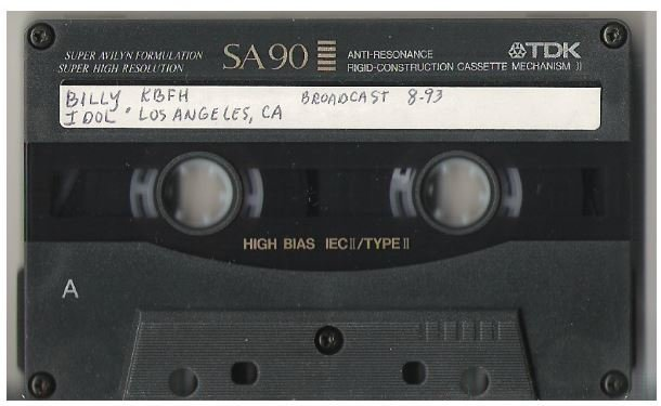 Idol, Billy / Los Angeles, CA - August 16, 1993 | Live + Rare Cassette