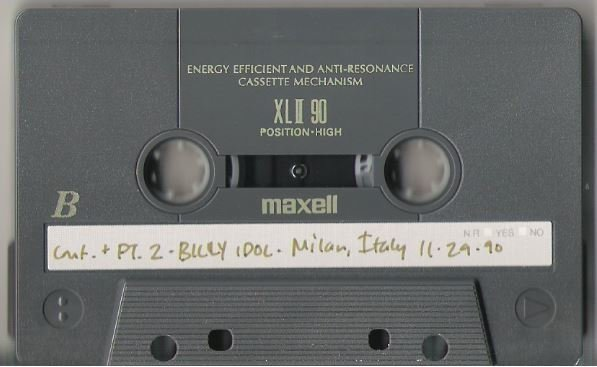 Idol, Billy / Milan, Italy - November 29, 1990 | Live + Rare Cassette | Part 2