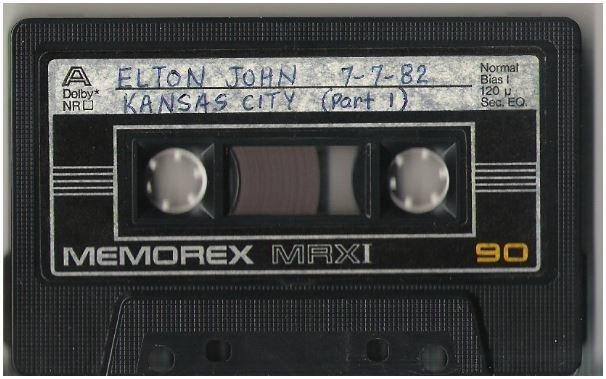 John, Elton / Kansas City, MO - July 7, 1982 | Live + Rare Cassette | Part 1