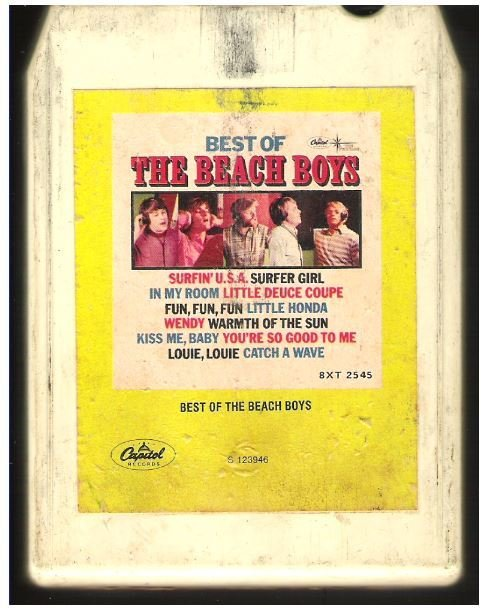 Beach Boys, The / The Best of the Beach Boys / Capitol 8XT-2545 | White Shell | 8-Track Tape | 1966