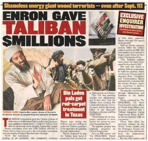 Enron Corporation / Enron Gave Taliban $Millions | Magazine Article with 2 Photos | 2002