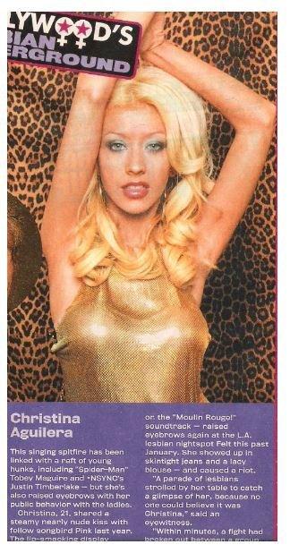 Aguilera, Christina / Singing Spitfire | Magazine Article with Photo | 2002