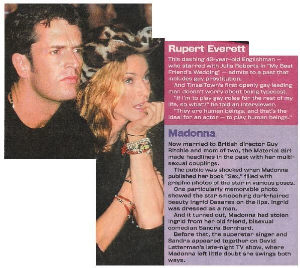 Everett, Rupert / To Play Human Beings | Magazine Article with Photo | 2002 | with Madonna