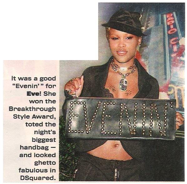 Eve / Breakthrough Style Award | Magazine Photo with Caption | 2002