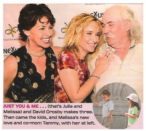 Etheridge, Melissa / Just You + Me | 2 Magazine Photos with Caption | 2002 | with David Crosby