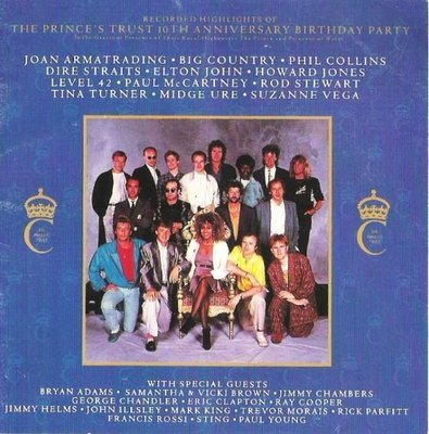 Various Artists / The Prince's Trust 10th Anniversary Birthday Party   A+M CD-3906   CD Booklet   1987