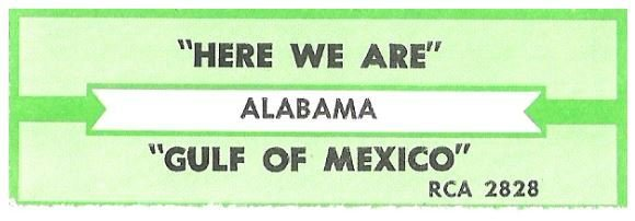 Alabama / Here We Are | RCA 2828 | Jukebox Title Strip | May 1991