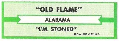 Alabama / Old Flame | RCA PB-12169 | Jukebox Title Strip | January 1981