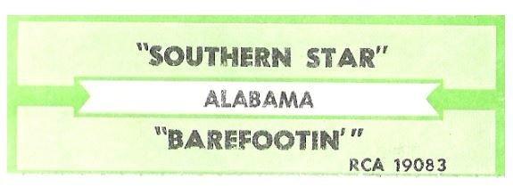 Alabama / Southern Star | RCA 19083 | Jukebox Title Strip | November 1989