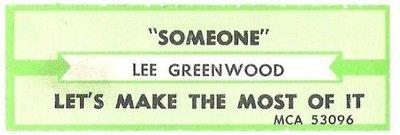 Greenwood, Lee / Someone | MCA 53096 | Jukebox Title Strip | April 1987