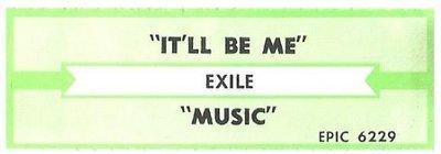 Exile / It'll Be Me | Epic 6229 | Jukebox Title Strip | July 1986