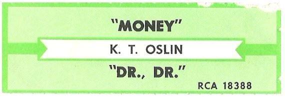 Oslin, K.T. / Money   RCA 18388   Jukebox Title Strip   May 1988