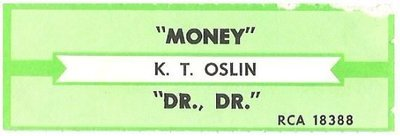 Oslin, K.T. / Money | RCA 18388 | Jukebox Title Strip | May 1988