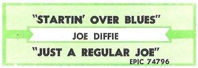 Diffie, Joe / Startin' Over Blues | Epic 74796 | Jukebox Title Strip | January 1993