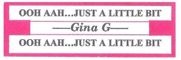 Gina G / Ooh Aah...Just a Little Bit | Jukebox Title Strip | April 1996