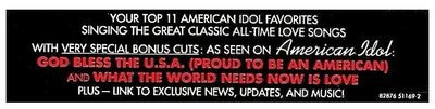 Various Artists / American Idol - Season 2: All-Time Classic American Love Songs | RCA 82876 51169-2 | Sticker | April 2003