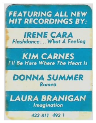 Various Artists / Flashdance (Soundtrack) | Casablanca 422-811 492-1 | Sticker | 1983