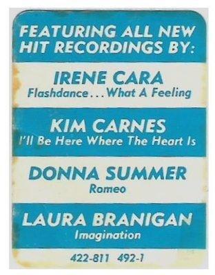 Various Artists / Flashdance (Soundtrack) | Casablanca 422-811 492-1 | Sticker | 1983