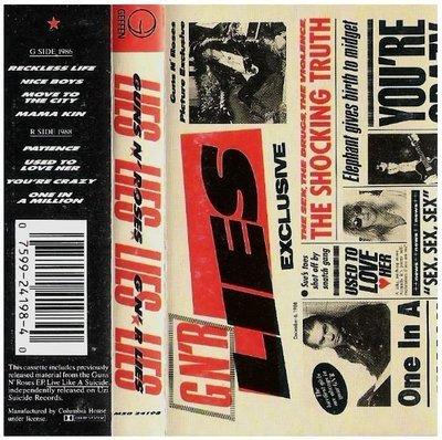 Guns N' Roses / G N' R Lies | Geffen M5G-24198 | Cassette | November 1988