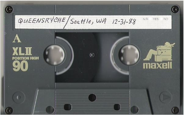 Queensryche / Seattle, WA | Live + Rare Cassette | December 31, 1988
