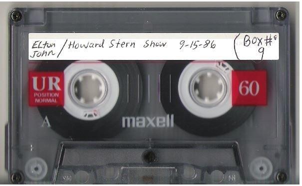 John, Elton / Howard Stern Radio Show | Live + Rare Cassette | September 15, 1986
