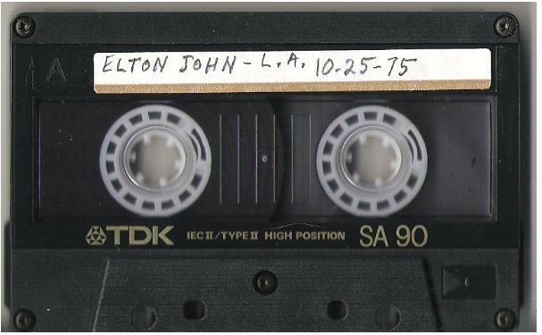 John, Elton / Los Angeles, CA | Live + Rare Cassette | October 25, 1975