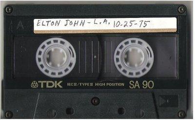 John, Elton / Los Angeles, CA | Live + Rare Cassette | October 25, 1975