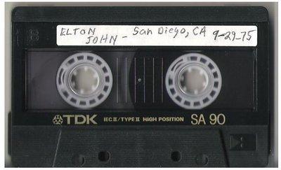 John, Elton / San Diego, CA | Live + Rare Cassette | September 29, 1975