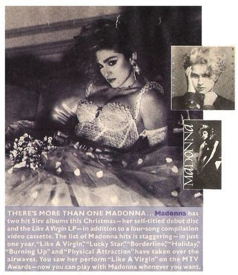 Madonna / There's More Than One Madonna | Magazine Ad | December 1984
