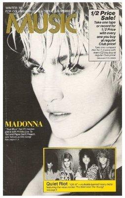 Madonna / Music - Columbia Record + Tape Club | Catalog | Winter 1986