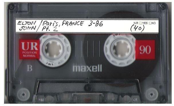 John, Elton / Paris, France | Live Cassette | March 1986 | Part 2