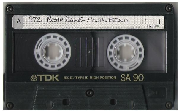 John, Elton / South Bend, IN - Notre Dame | Live Cassette | May 3, 1972