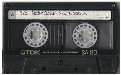 John, Elton / South Bend, IN - Notre Dame | Live Cassette | May 3, 1972